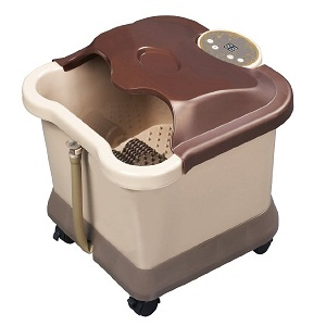 2.Carepeutic Deluxe Motorized Foot and Leg Spa Bath Massager, Light Burgundy-Brown
