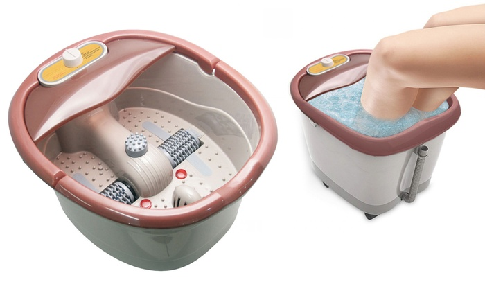 2.a heated foot spa